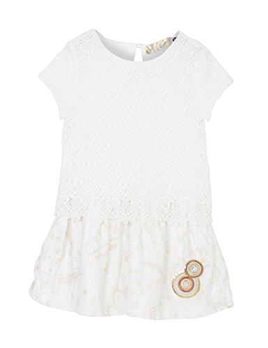 Desigual VEST_TOPEKA-Vestito  Bambina    Bianco (Algodón) 8 anni