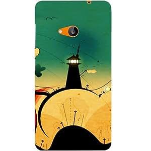 Casotec Wonderland Trip Design Hard Back Case Cover for Microsoft Lumia 535
