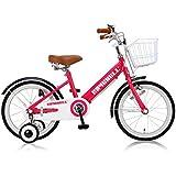 Raychell(レイチェル) 18インチ 子供用自転車 前後フェンダー フロントバスケット付 フロントキャリパー/リアバンドブレーキ KCL-18 ピンク 31083
