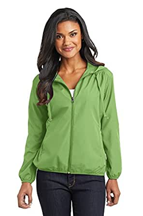 Port Authority Ladies Hooded Essential Jacket, Green Oasis, Small