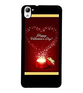 PrintDhaba Valentine Design D-2505 Back Case Cover for HTC DESIRE 826 (Multi-Coloured)