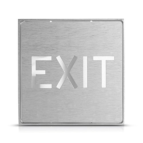 Silver Aluminum Sign Green Led Light Exit Hotel Bar Ktv Club Wall Mount