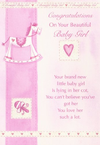 Congratulations On Your Beautiful Baby Girl Card