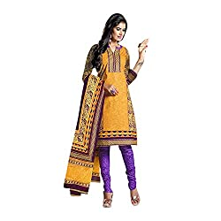 Gorgeous stylish in unstitched printed Cotton Chudidhar