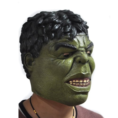 Halloween Adult Avengers Roleplay Latex Hulk Mask