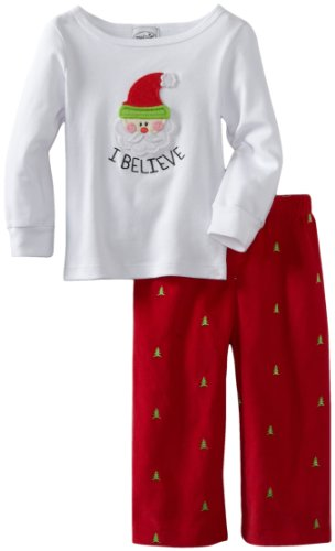 Mud Pie Unisex-Baby Infant I Believe Santa 2-piece Set