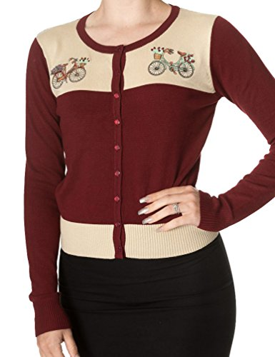 Banned Apparel -  Cardigan  - Donna Red Small