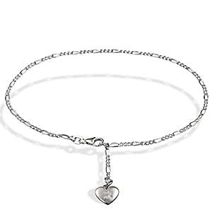 Goldmaid - Ke F4610SH - Chaine de cheville Femme - Argent 925/1000 2.1 gr - Diamant 0.005 cts - Coeur - 25 cm
