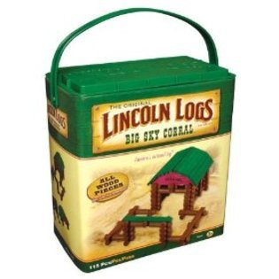 Lincoln Logs Big Sky Coral: 115 Piece Building Set - 1