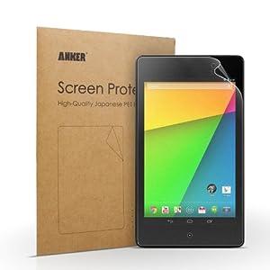 [2-Pack] Anker® Matt Nexus 7 2 Generation Schutzfolie Displayschutz Screen Protector für Google Nexus 7 2nd 2013 - Matt - AntiReflex - Beste Qualität aus Japanischem PET Material