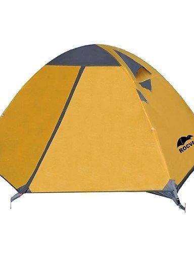 ZQ-Rocvan-3-Season-A091-2-Person-Double-Layer-Tear-Resistant-Aluminum-Camping-Tent