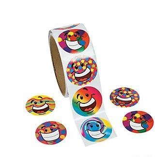 Funky Smile Face Roll Stickers - Stationery & Stickers - 1