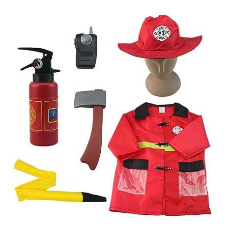 iplay, ilearn Fire Chief Role Play Costume Set (3-6 Years)
