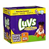 41TBhpgXWcL. SL160  Luvs Luvs Ultra Leakguards Diapers, Size 3, 16 to 28 lbs 234 ct (Quantity of 1)