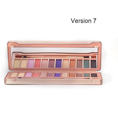 E-TOP Fard à Paupières Palette Maquillage Ombre à Paupières Eyeshadow Palette Mat-12 Couleurs,v7