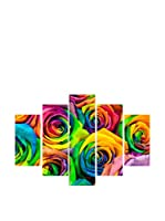 Best seller living Set Panel Decorativo 5 Uds. Quadro 5 Pannelli Multicolor
