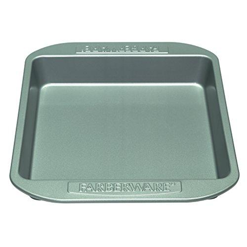 Farberware Nonstick Bakeware 9-Inch Square Cake Pan, Gray (Brownie Cake Pan compare prices)