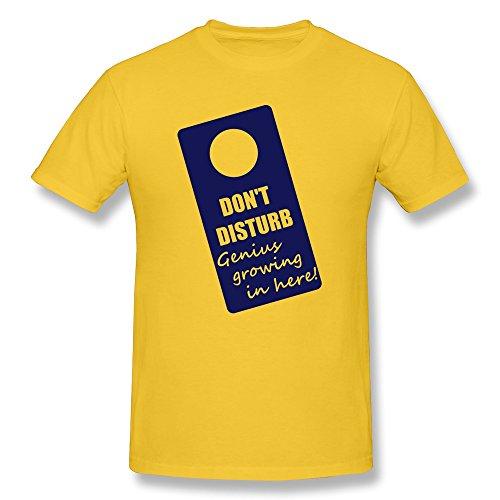 Men Tees Vintage Dont Disturb Gold Machine Wash front-615296