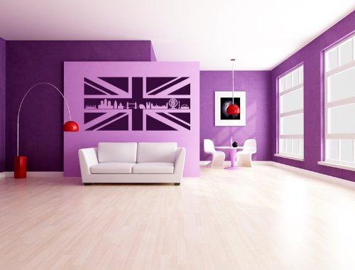 Union Jack with London Skyline Wall Stickers Wall Art Deco , H = 50cm , W = 50cm