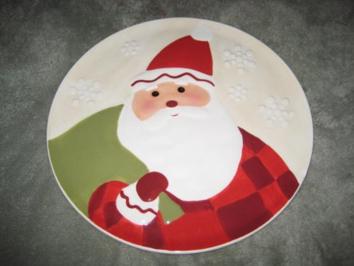 Hallmark Christmas Holiday  Santa  10 Inch Round Porcelain Plate