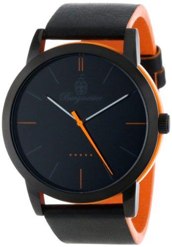 Burgmeister Ibiza Women's Quartz Watch with Black Dial Analogue Display and Black Leather Strap BM523-620B