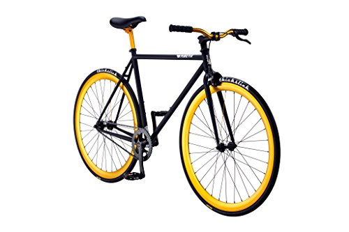 Pure Fix Original Fixed Gear Single Speed Bicycle, India Matte Black/Babylon Gold, 54cm/Medium