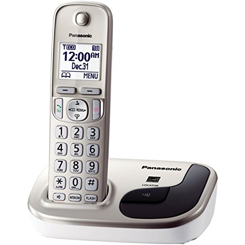 Panasonic KX-TGD210N DECT 6.0 1.9 GHz Expandable Digital Cordless Phone with 1 Handset, Champagne Gold (Panasonic Phones 1 Handset compare prices)
