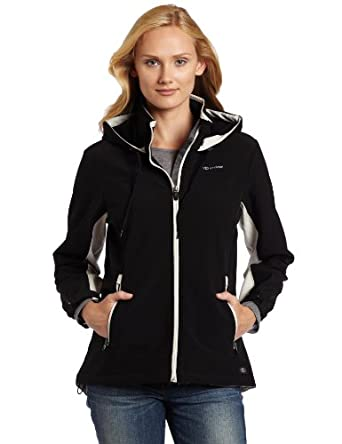 Dickies Women's Color Block Soft Shell Jacket, Black, X-Small