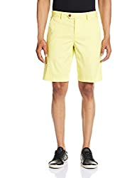 French Connection Men's Cotton Shorts (886928352113_59DNO_34_Light Yellow)