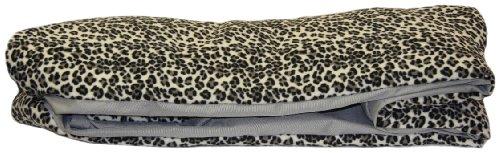 Imagen de Arm Reach de Co-Sleeper Pet Bunk Bed Liner peluche, grande, gris y Leopardo Negro