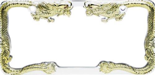 Pilot WL211CG Gold Chrome Dragon License Plate Frame