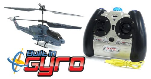 Syma GYRO S108G Marines Force 3.5CH Electric RTF Remote Control RC Helicopter (Color May Vary)