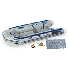 Sea Eagle 10ft 6in Sport Runabout Boat with Rigid Inflatable Keel Plastic Floor... by Sea Eagle