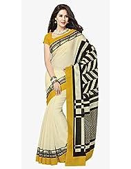 Triveni Indian Designer Fanciful Contemporary Printed Bhagalpuri Silk Saree