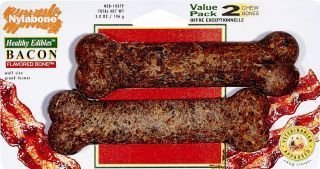 Healthy Edibles Bacon Bone Dog Treat Size: Wolf/2-Pack