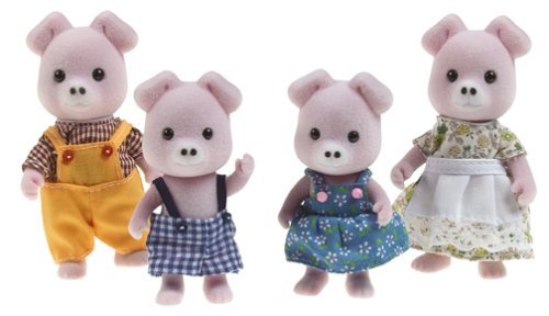 Calico Critters Pigglywink Pig Family