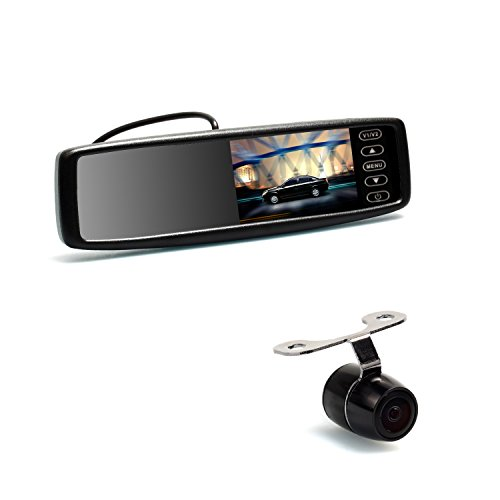 Auto-Vox 4.3-Inch Dual Video Input Digital Lcd Wireless Car Rear View Dvd Mirror Monitor(Compatible For Any Cars) With Backup Camera Cmd14 -- Xmas Present