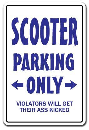 SCOOTER PARKING ~Sign~ redneck hillbilly nickname gift