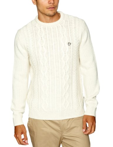 Farah Vintage The Reilly Men's Jumper Cream Large
