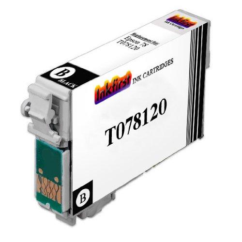 T078 Black Ink Cartridge T078120 (T0781) Compatible Remanufactured for Epson 78 Black