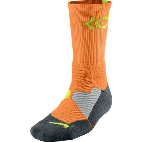 Nike KD Kevin Durant Hyper Elite Crew Socks Bright Citrus SX4814-877 cкакалка nike weighted rope 2 0 ns grey black bright citrus