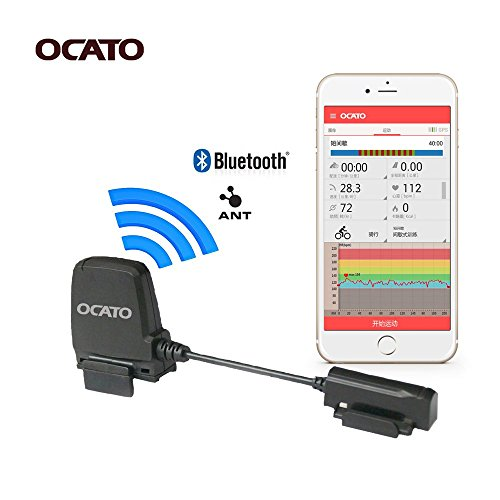 OCATO Fitness Tracker Bike Dual Mode Speed Sensor and Cadence Sensor Speedmeter for iPhone, Android and Bike Computers (ANT+ & Bluetooth) (Ant Cycling Computer compare prices)