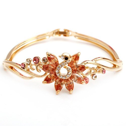 2013 New Champagne Crystal the Peacock Bangle