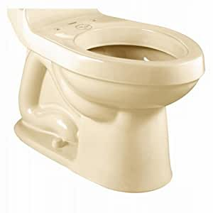 American Standard 3225.016.021 Champion Right Height Elongated Toilet Bowl with Bolt Caps, Bone (Bowl Only)