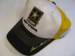Classic Mark Martin #01 Army Strong White Black Yellow Hat Cap One Size Fits Most... by CFS