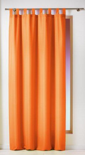 Douceur D'Intérieur  - 1600522, Tenda Con Passanti , 140 X 260 Cm , Essentiel , Poliestere Unito , Arancione