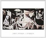ポスター パブロ ピカソ ゲルニカ 額装品 アルミ製ベーシックフレーム(ホワイト)