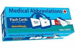 Medical Abbreviations Flash Cards (QuickStudy) (Academic), BarCharts, Inc.