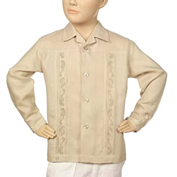 Irish linen natural shirt for boys. Final sale