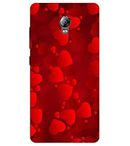 Chiraiyaa Designer Printed Premium Back Cover Case for Lenovo Vibe P1 (heart boy girl friend valentine miss kiss red) (Multicolor)